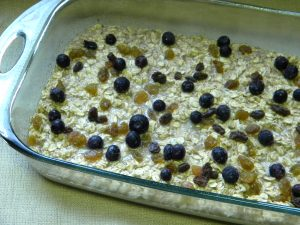 Baked Oatmeal - in the baking dish- ready to bake