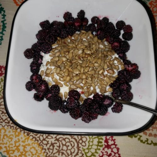 High protein breakfast with cottage cheese